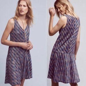 Anthropologie Maeve Westwater Chevron Knit Dress L